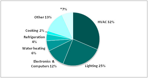 Commercial Sector Buildings Energy End Use (2006)